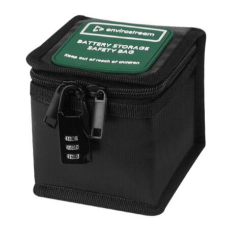 Photo 4: Secure battery storage boxes
